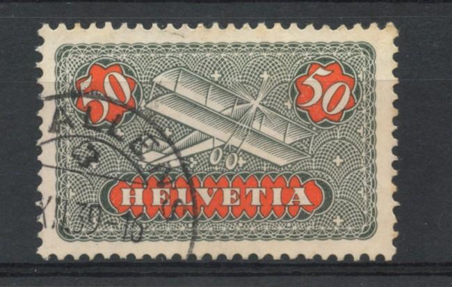 1923/37 - LOTTO/15845 - SVIZZERA - 50c. POSTA AEREA - USATO