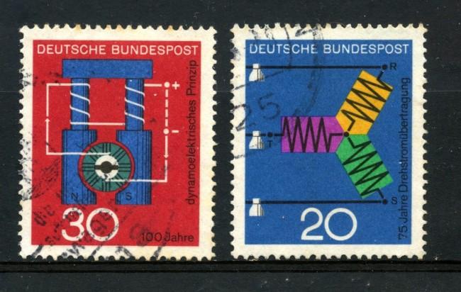 1966 - GERMANIA FEDERALE - CORRENTE E DINAMO 2v. - USATI - LOTTO/30929U