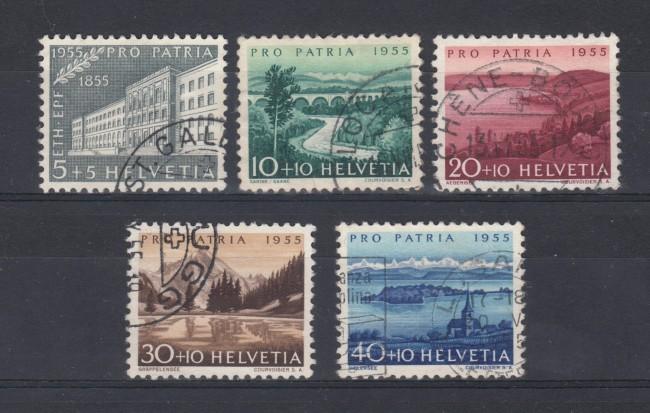 1955 - SVIZZERA - PRO PATRIA 5v.- USATI  - LOTTO/22318