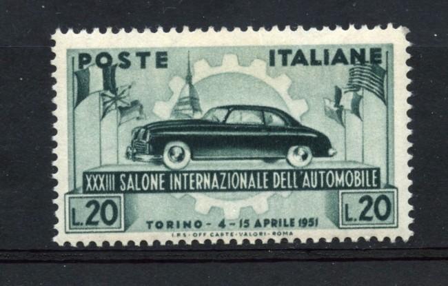 1951 - REPUBBLICA - 33° SALONE AUTOMOBILE - NUOVO - LOTTO/30317