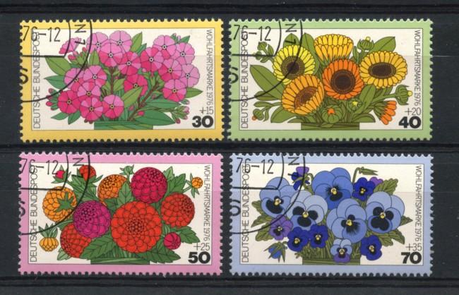 1976 - LOTTO/18982U - GERMANIA FEDERALE - FIORI DA GIARDINO 4v. - USATI