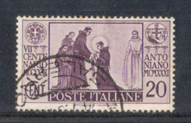 1931 - LOTTO/REG292U - REGNO - 20c. S.ANTONIO - USATO