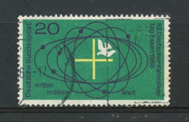 1968 - GERMANIA FEDERALE - 82° GIORNATA CATTOLICA - USATO - LOTTO/30949U