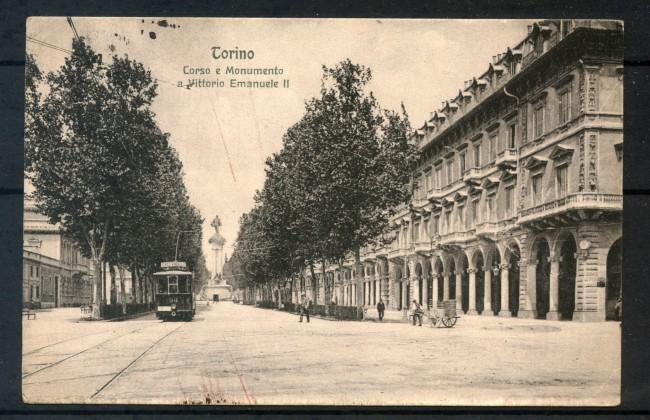 1910 - TORINO - CARTOLINA CORSO E MONUMENTO A VITTORIO EMANUELE II° - LOTTO/30680