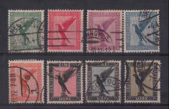 1926 - LOTTO/3643 - GERMANIA REICH - POSTA AEREA AQUILA 8v.