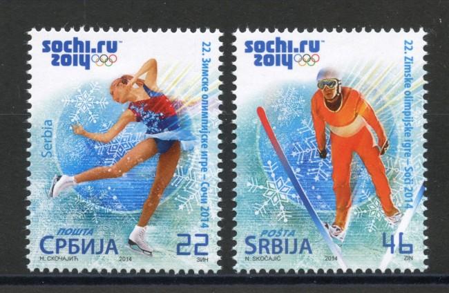 2014 - SERBIA REPUBBLICA - OLIMPIADI DI SOCHI  2v. - NUOVI - LOTTO/35242