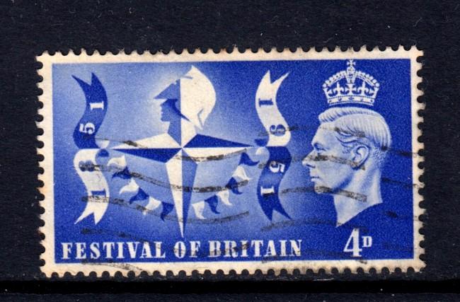 1951 - GRAN BRETAGNA - 4p.FESTIVAL NAZIONALE - USATO - LOTTO/32104