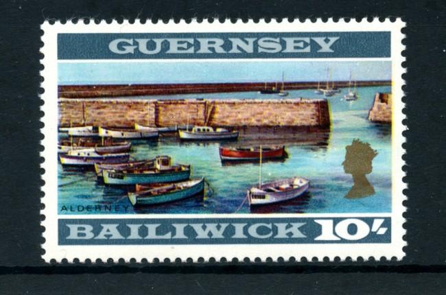 1969/70 - LOTTO/22119 - GUERNSEY - 10s. VEDUTA DI ALDERNEY - NUOVO