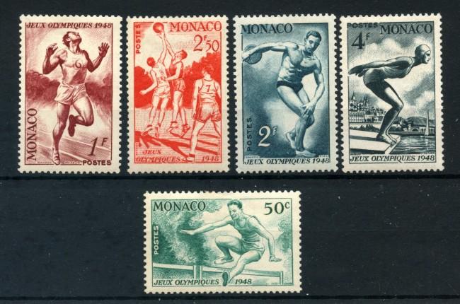 1948 - MONACO - OLIMPIADI DI LONDRA 5v. LINGUELLATI - LOTTO/13358