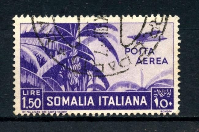 1936 - SOMALIA - 1,50 Lire POSTA AEREA PITTORICA - USATO - LOTTO/30212