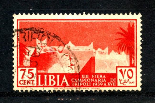 1939 - LIBIA - 75c. 13° FIERA DI TRIPOLI - USATO - LOTTO/17643