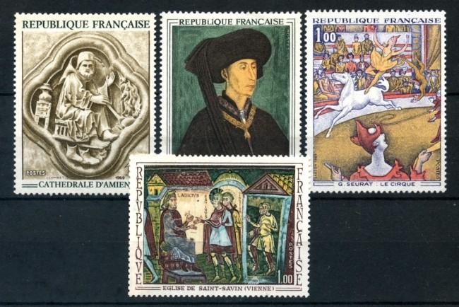 1969 - FRANCIA - OPERE D'ARTE 4v. - NUOVI - LOTTO/25979