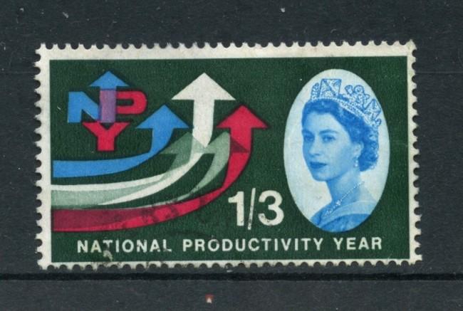 1962 - GRAN BRETAGNA - 1/3 PRODUTTIVITA' NAZIONALE - USATO - LOTTO/26310