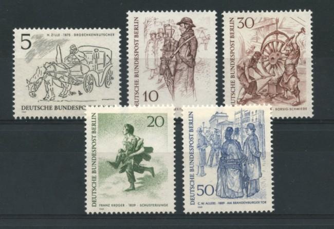 1969 - LOTTO/15531 - BERLINO - FIGURE CARATTERISTICHE  5v. - NUOVI