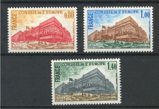 1977 - FRANCIA - CONSIGLIO D'EUROPA 3v.  NUOVI  - LOTTO/FRA55CPN