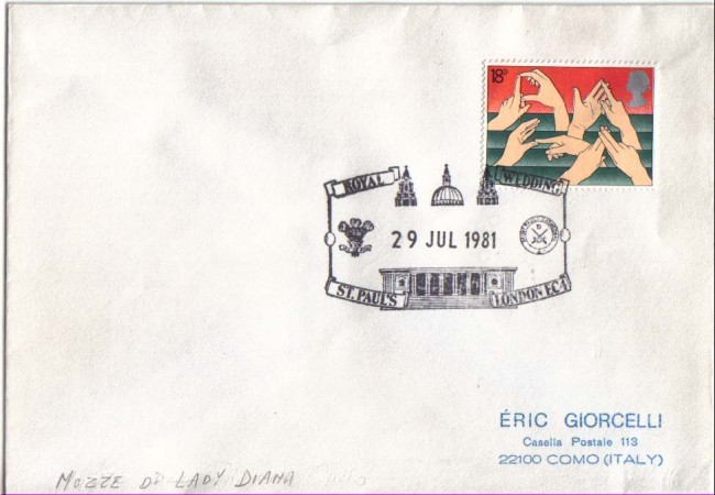 1981 - LBF/2525  - GRAN BRETAGNA - NOZZE LADY DIANA