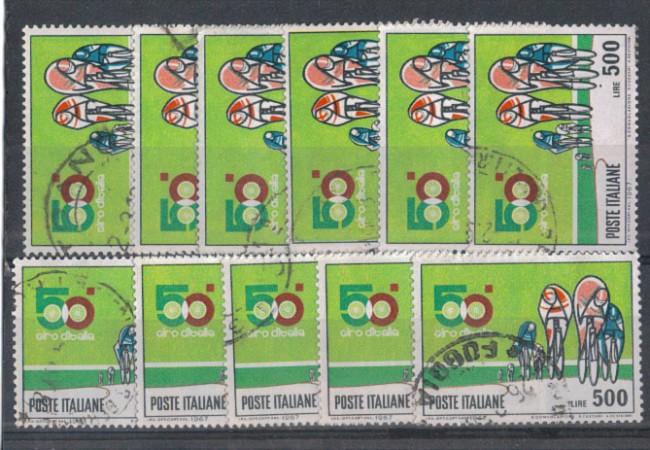 1967 - LOTTO/6466UCM - REPUBBLICA - 500 L. GIRO D'ITALIA  x 100