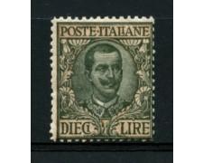 1910 - LOTTO/11551 - REGNO - 10 LIRE FLOREALE - LING.