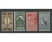 1911 - LOTTO/11556 - REGNO - CINQUANTENARIO UNITA' D'ITALIA  4v. - LING.