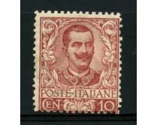 1901 - LOTTO/11559 - REGNO - 10c. CARMINIO FLOREALE - NUOVO