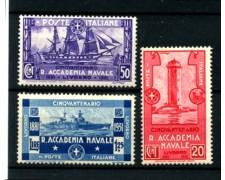 1931 - LOTTO/11567 - REGNO - ACCADEMIA NAVALE 3v. - NUOVI