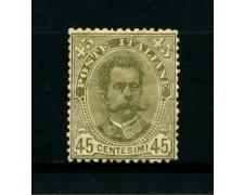 1891 - LOTTO/11581 - REGNO - 45c. RE UMBERTO I° - NUOVO