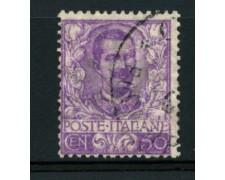 1901 - LOTTO/11631 - REGNO - 50c. MALVA VITTORIO EMANUELE III° - USATO