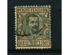 1910 - LOTTO/11632 - REGNO - 10 LIRE FLOREALE VITTORIO EMANULE III - USATO