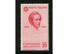 1935 - LOTTO/11728A - REGNO - 20c. VINCENZO BELLINI - NUOVO