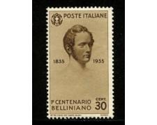 1935 - LOTTO/11729A - REGNO - 30c. VINCENZO BELLINI - NUOVO