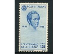 1935 - LOTTO/11731 - REGNO - 1,25 LIRE VINCENZO BELLINI - LING.
