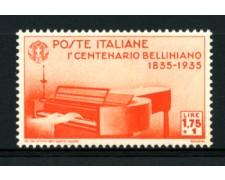 1935 - LOTTO/11732 - REGNO - 1,75+1 LIRA VINCENZO BELLINI - NUOVO
