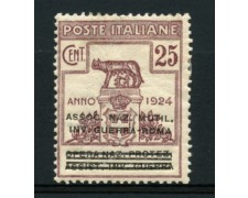 1924 - LOTTO/11752 - REGNO - 25c. ASSOC. NAZ. MUT.INV. GUERRA - LING.