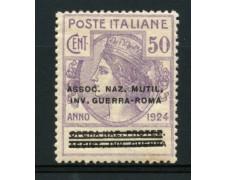 1924 - LOTTO/11754 - REGNO - 50c. ASSOC.NAZ.MUTIL.INVALIDI - LING.