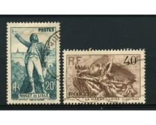 1936 - LOTTO/11777 - FRANCIA - ROUGET DE LISLE 2v. - USATI