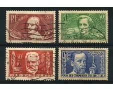 1936 - LOTTO/11781 - FRANCIA - PRO INTELLETTUALI 4v. - USATI