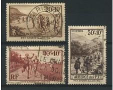 1937 - LOTTO/11783 - FRANCIA - PRO OPERE POSTELEGRAFONICI 3v. - USATI
