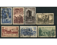 1938 - LOTTO/11786 - FRANCIA - VEDUTE E SOGGETTI 7v. - USATI
