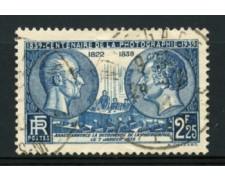 1939 - LOTTO/11791 - FRANCIA - 2,25 Fr. CENTENARIO FOTOGRAFIA - USATO