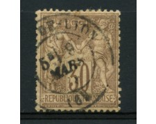 1876/81 - LOTTO/11800 - FRANCIA - 30c. BRUNO CHIARO - USATO