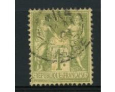 1876/81 - LOTTO/11801 - FRANCIA - 1 Fr. VERDE OLIVA - USATO