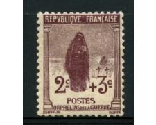 1917/19 - LOTTO/11804 - FRANCIA -  2+3c. PRO ORFANI - LING.