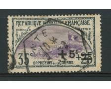 1922 - LOTTO/11807 - FRANCIA - +5c. SU 35+25c. PRO ORFANI - USATO