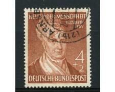 1952 - LOTTO/11834 - GERMANIA FEDERALE - 4+2p. BENEFICENZA - USATO