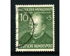 1952 - LOTTO/11835 - GERMANIA FEDERALE  - 10+5p. BENEFICENZA - USATO
