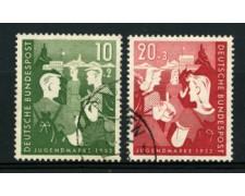 1952 - LOTTO/11840 - GERMANIA FEDERALE - OPERE GIOVENTU' 2v . - USATI