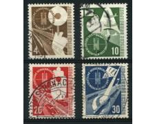 1953 - LOTTO/11845 - GERMANIA FEDERALE - ESPOSIZIONE TRASPORTI 4v. - USATI