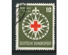 1953 - LOTTO/11847 - GERMANIA FEDERALE - 10p. HENRI DUNANT - USATO