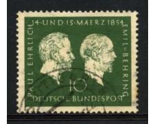 1954 - LOTTO/11851 - GERMANIA FEDERALE - 10p. PROFESSORI - USATO