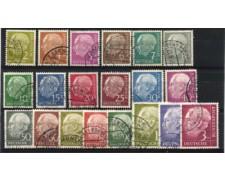 1954 - LOTTO/11852 - GERMANIA FEDERALE - THEODOR HEUSS 20v. - USATI